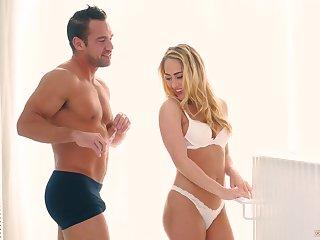 Sensual and graceful hottie Carter Cruise gives her head and rides a cock