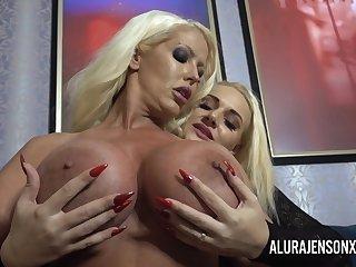 Dolly Fox licks and fucks Alura Jenson with toys until she has a breathtaking orgasm!