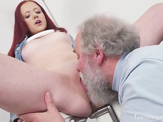 Young Tiffani Adulate gets fucked away from a senior impoverish and she loves evenly
