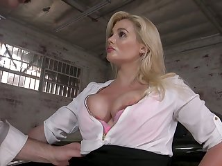Perverted drives can't repel fucking obese boobs with the addition of racy cunt of sexy milf Katy Jayne
