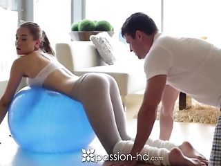 Morning exercise turns into a superb tear up just about many poses easy porn