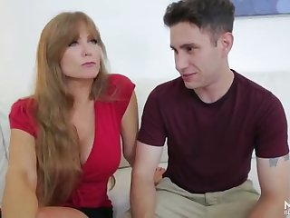 Pretty breasty mature woman Darla Crane featuring hot sex action ending with cumshot
