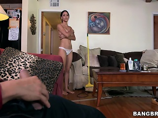Obese tit Latina maid gets fucked