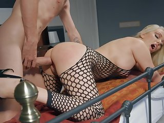 Milf in sexy fishnets bedroom sex with will not hear of foetus