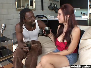 Curvy long haired MILF Rachel Solari get pounded by a big black cock