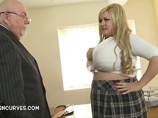 Lecherous Daddy gets his hands on Leah
