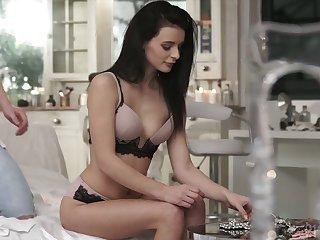 Tempting Russian girlfriend Kate Rich allows to penetrate their way miserly ass gap
