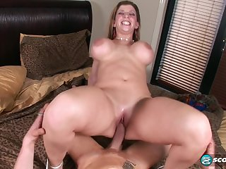 Busty Tits Lady Apropos Cum Load On Rear End - ANALDIN