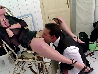 Teen gets spanked and gagged in a filthy maledom fuck