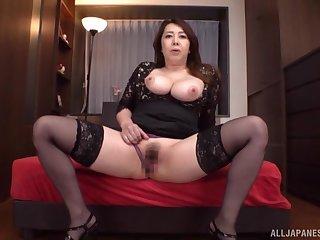 Liberality nude solo by busty Kazama Yumi