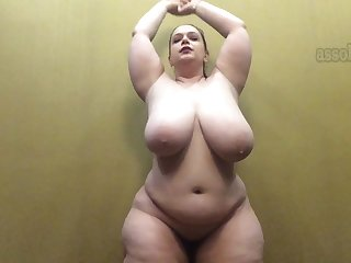 Slutty full-bosomed milf - hot bbw lady solo