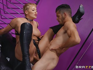 Milf loads her mature cunt relative to a young penis