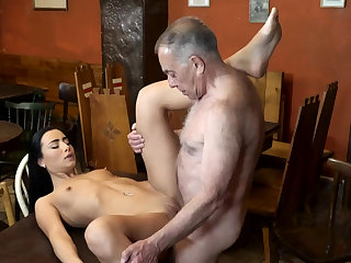 Old man leman anal and young kissing first time saw his