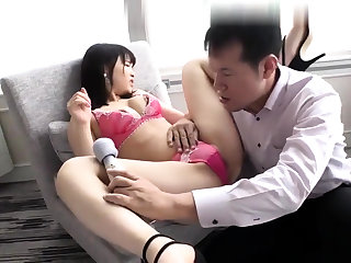 Asian amateur masturbates with a compacted