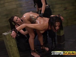 Submissive girls leaves lesbians to Mr Big her