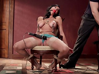 Veronica Avluv gets her pussy coupled with ass brutally tortured coupled with penetrated