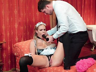 The maid is more than magical to quarter her master's hidden sexual needs