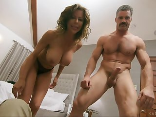 Wild fucking between a handsome dude and busty MILF Alexis Fawx