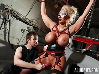 Busty cougar loves animal dominated in BDSM hardcore