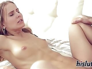 Puny brasted thin nubile cowgirl railing with the addition of ass-fuck rear end porking porn video