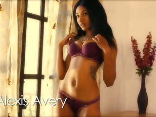 Nice black cutie Alexis Avery is always ready to denote the brush definitely sexy ass
